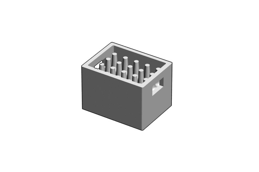 Mikromodell sörös rekesz, teli (1:87)