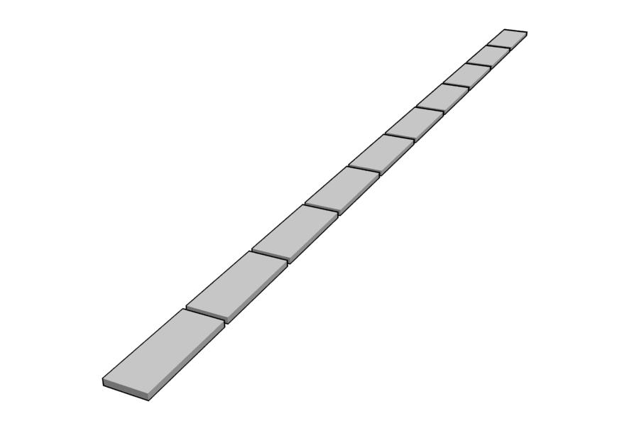 Mikromodell kábelcsatorna fedélsor 1 (1:87)