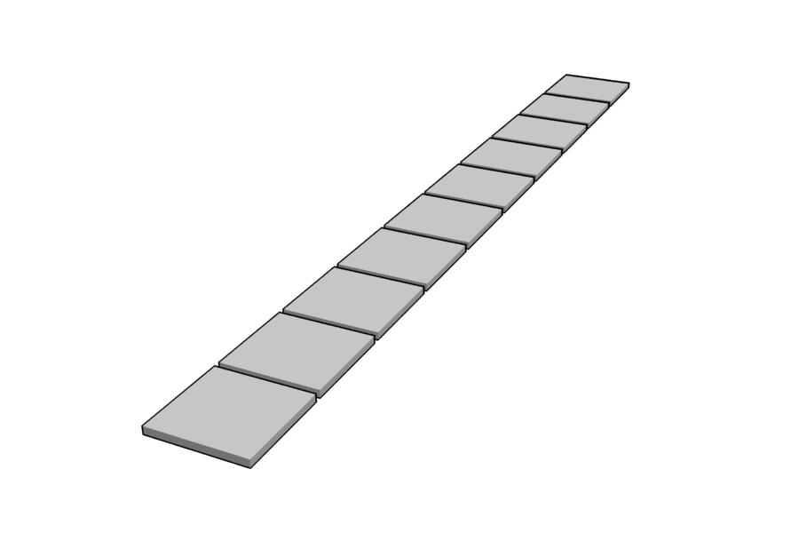 Mikromodell kábelcsatorna fedélsor 2 (1:87)
