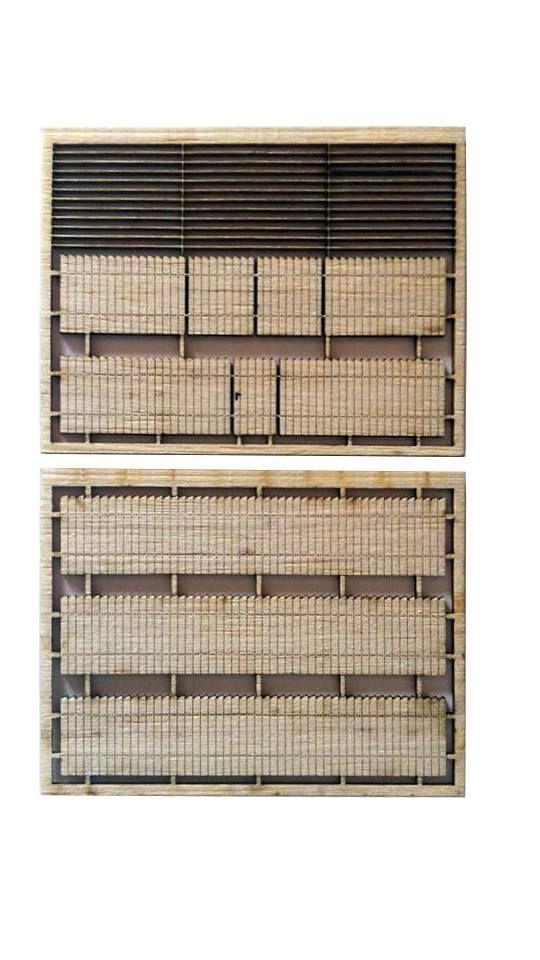 SmallWood Léda KL-275-10-E5-N lézervágott léckerítés, 1 kiskapuval és 1 nagykapuval (1:160)