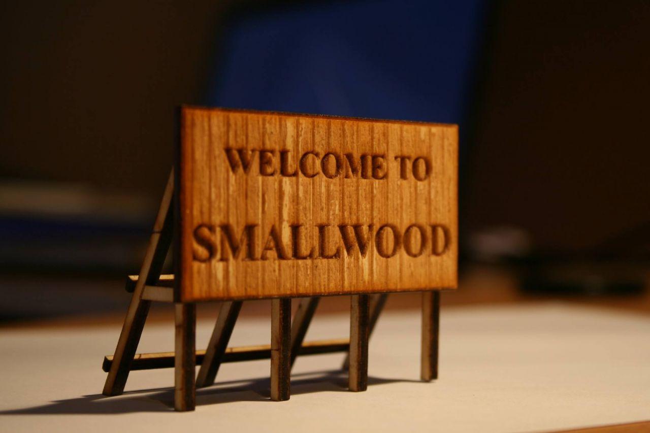 SmallWood Niké T-70-32-50-H0 lézervágott egyedi feliratú hirdetőtábla, óriásplakát építőkészlet (1:87)