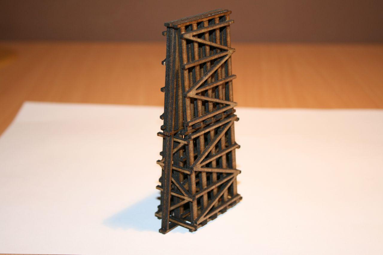 SmallWood Atlasz KAH-P1-105-N soroló pillér építőkészlet, a következő hidakhoz használható: Atlasz, Théta, Zéta (1:160)