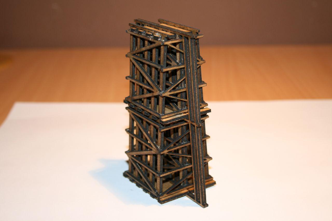 SmallWood Atlasz KAH-P2-105-N soroló pillér plusz magasító építőkészlet, a következő hidakhoz használható: Atlasz, Théta, Zéta (1:160)