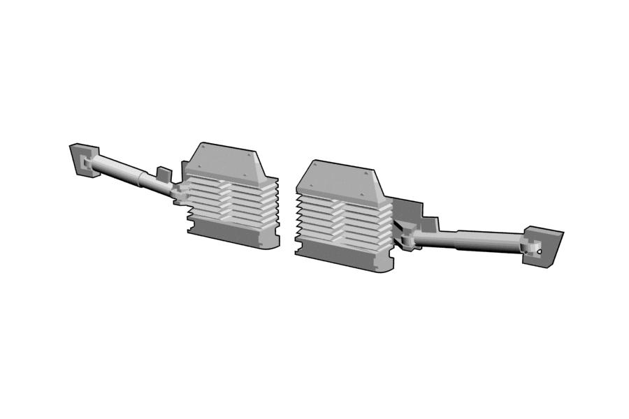 Mikromodell MÁV V43 Szili kígyózásgátló készlet (1:160)