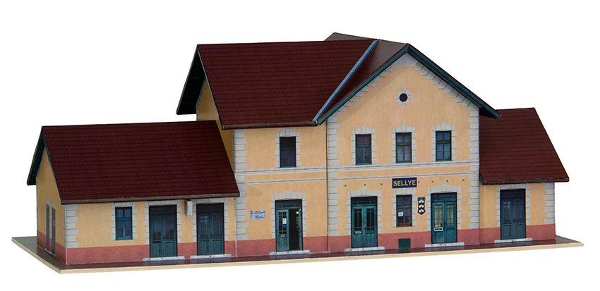 MÁV HÉV Sellye másodosztályú felvételi épület papírmakett (1:120)