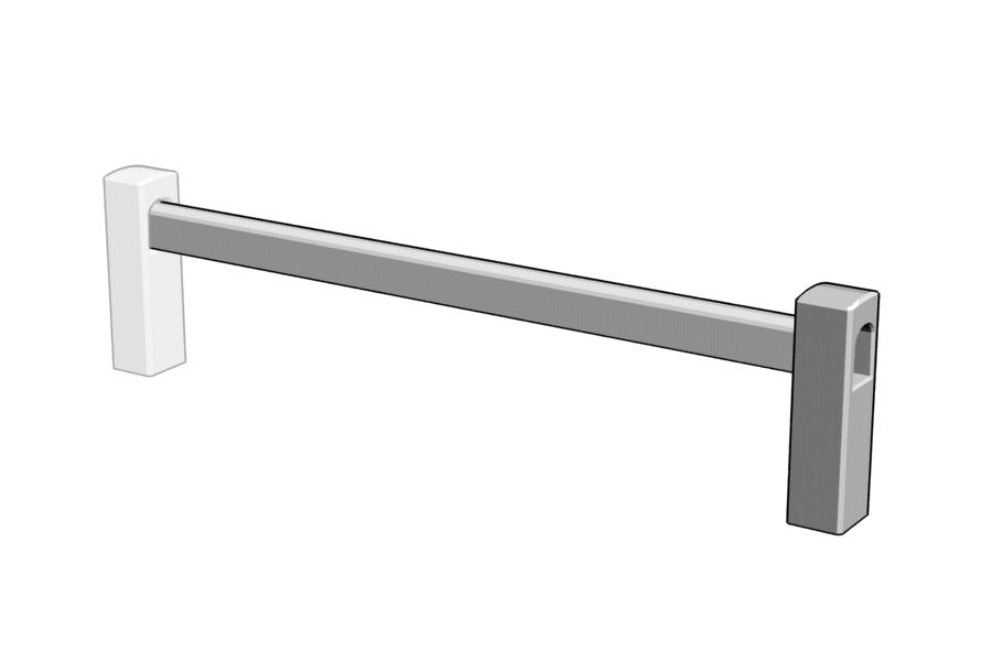 Mikromodell MÁV vasbetonkorlát (1:87)