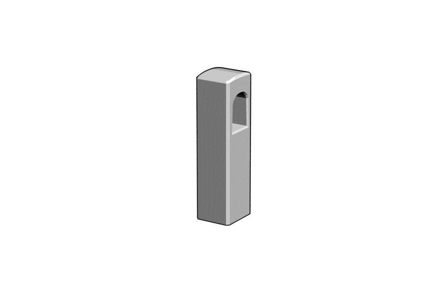 Mikromodell MÁV vasbetonkorlát oszlop (1:87)