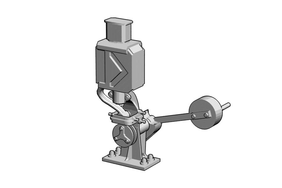 Mikromodell kézi váltóállítómű (1:87)