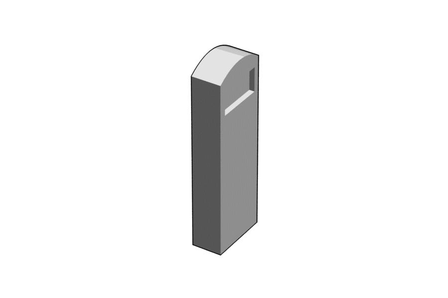 Mikromodell MÁV szelvénykő (1:87)