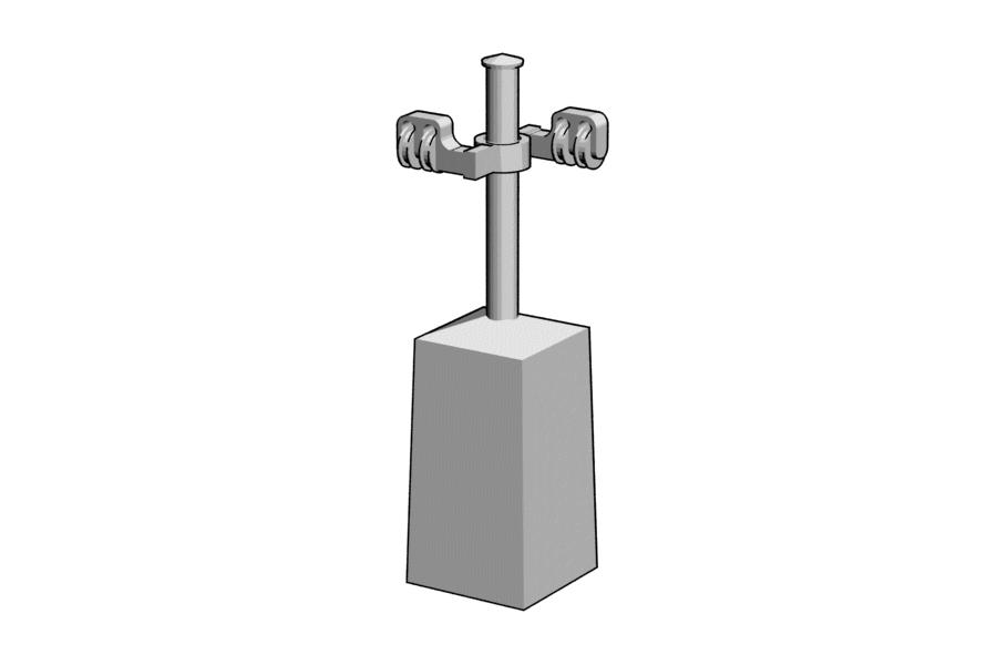 Mikromodell MÁV vonóvezeték tartó (1:87)