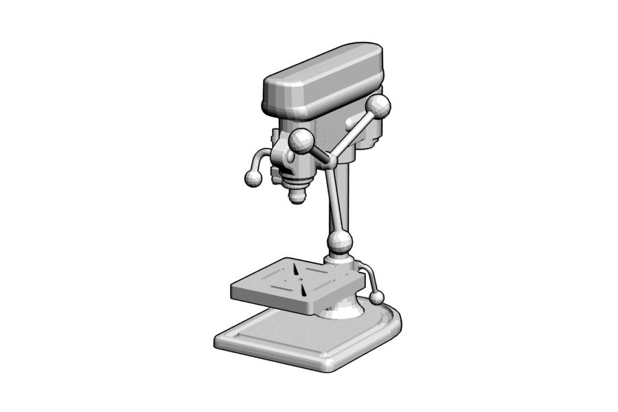 Mikromodell oszlopos fúrógép (1:87)