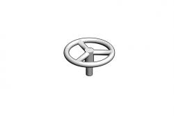 Mikromodell kézifék kerék (1:87)