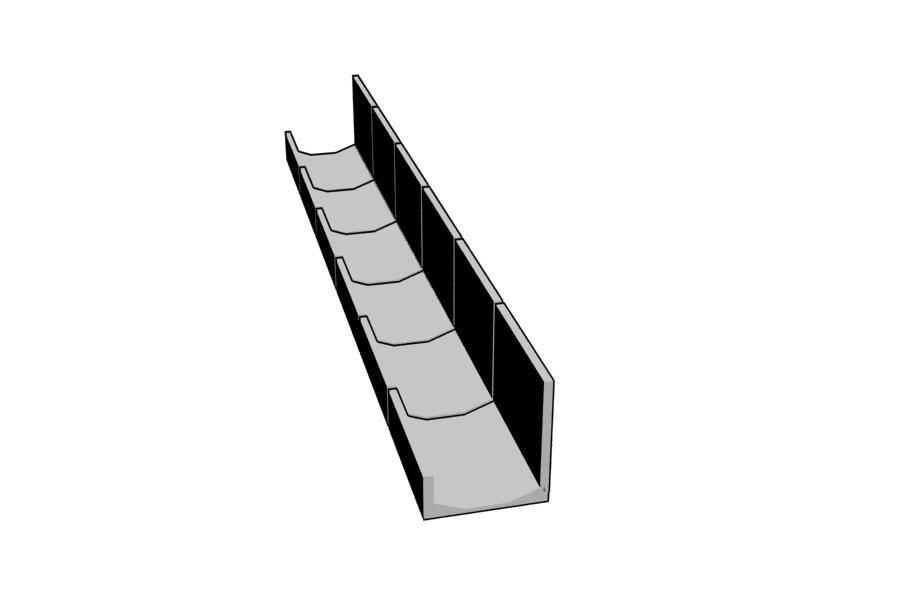 Mikromodell betoncsatorna 1 (1:87)