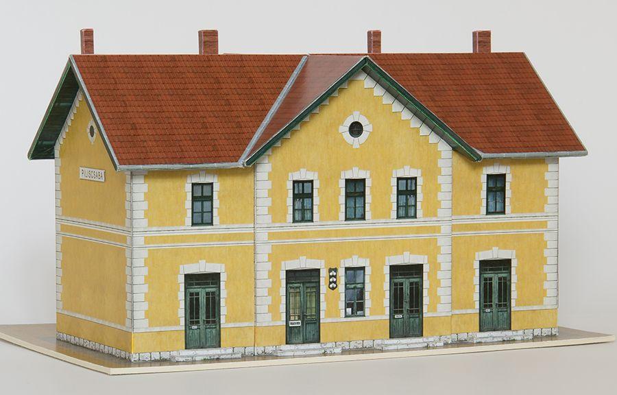 MÁV HÉV Piliscsaba elsőosztályú felvételi épület papírmakett (1:87)