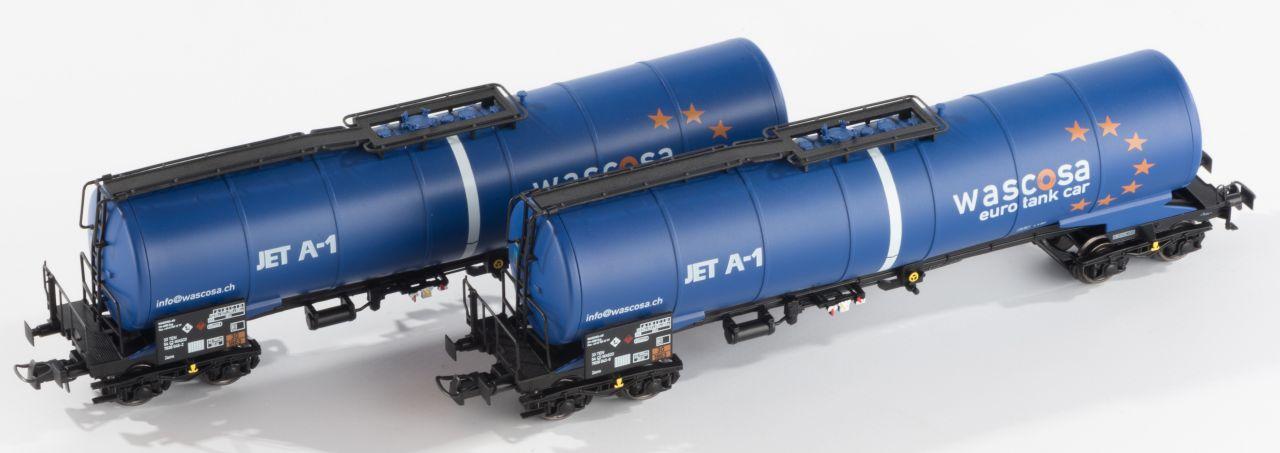 B-models VB-81033 tartálykocsi készlet, 2 db, Wascosa JET A-1 (1:87)