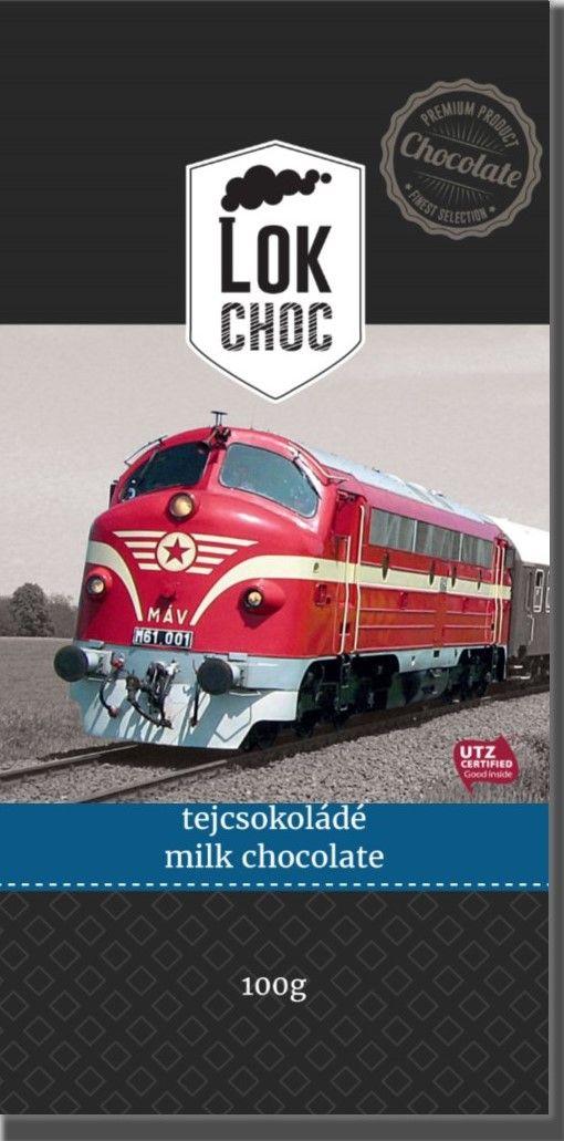 LokChoc NOHAB M61 tejcsokoládé 100g