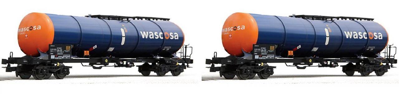 B-models VB-81051 tartálykocsi készlet, 2 db, Wascosa (1:87)