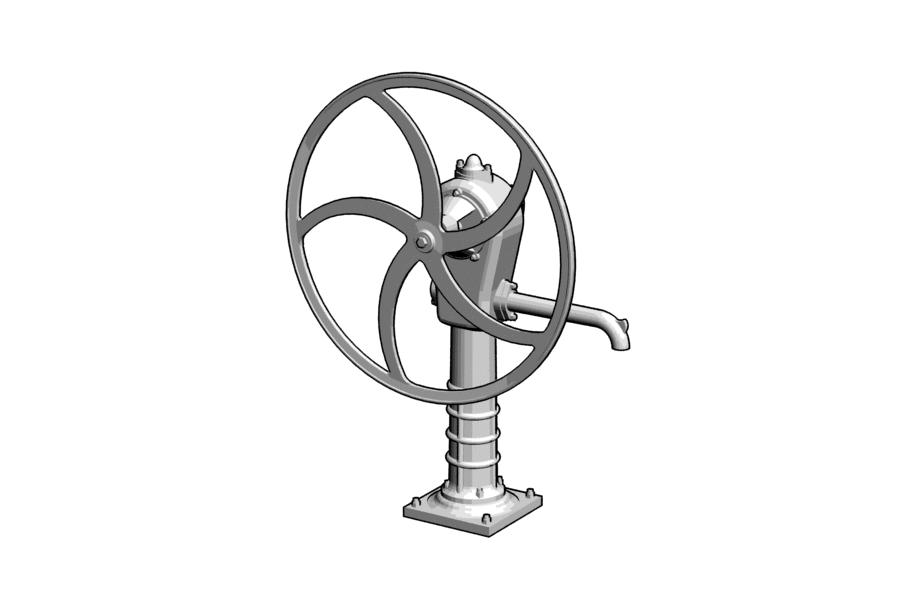 Mikromodell kerekes kút (1:120)