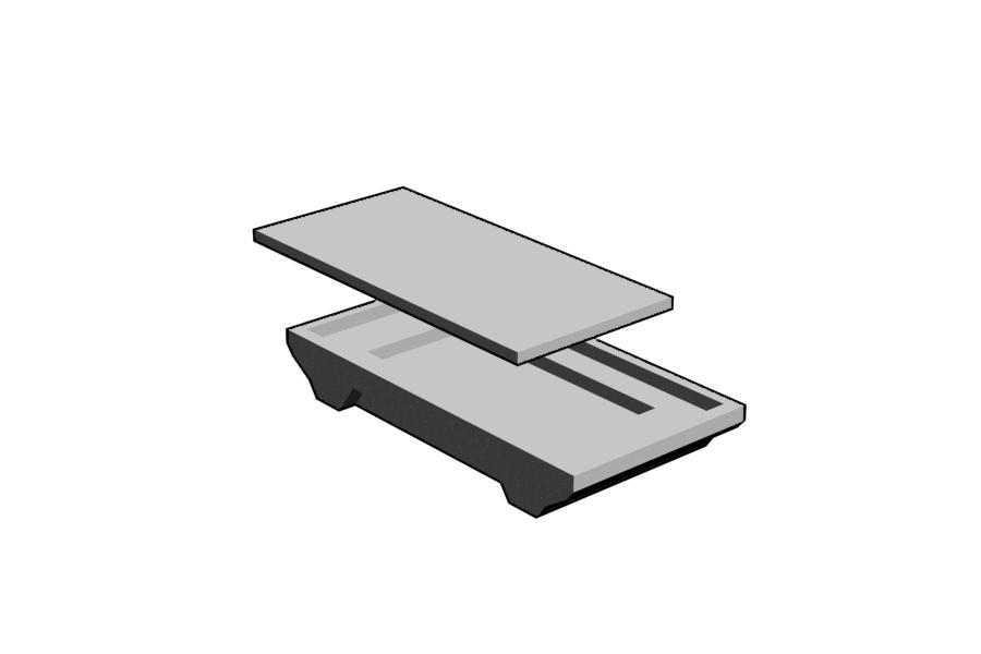 Mikromodell BODAN útátjáró külső elem (1:87)